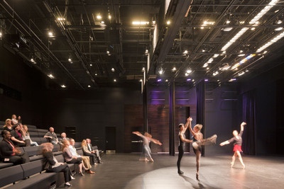 Houston Ballet's new Center for Dance, designed by Gensler, features a dance lab whose dimensions mimic those of Houston Ballet's performance space at the adjacent Wortham Theater.
