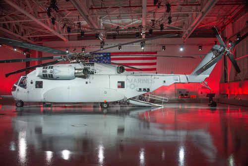 Sikorsky Aircraft Corp., today officially unveiled the CH-53K heavy lift helicopter, the next generation in the  ...