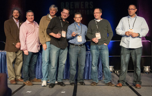 New York beer distributor DeCrescente Distributing Company receives the 2013 Craft Beer Distributor of the Year Award, presented jointly by the National Beer Wholesalers Association and the Brewers Association at the Great American Beer Festival in Denver, Colorado.  (PRNewsFoto/National Beer Wholesalers Association)