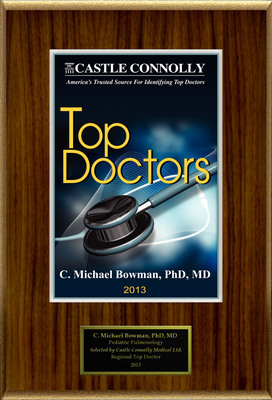 Dr. C. Michael Bowman is recognized among Castle Connolly's Top Doctors(R) for Charleston, SC region in 2013.  (PRNewsFoto/American Registry)