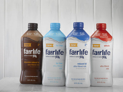 fairlife(R) ultra filters high quality real milk to concentrate the natural goodness for 50 percent more natural protein, 30 percent more natural calcium and half the sugar of ordinary milk. Available in four varieties: 2% Reduced Fat, Chocolate, Fat Free and Whole.