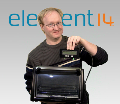 "Mod guru cooks up sizzling soldering tools with an old InfraWave oven in element14's ""The Ben Heck Show"".  (PRNewsFoto/element14)"