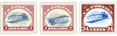 The Postal Service has printed 100 additional sheets of stamps of the recently issued $2 Inverted Jenny stamp but with the plane flying right-side up. These very limited edition stamps were circulated with the recent issue of stamps mimicking the most famous stamp error in U.S. history. Customers who purchased the new Inverted Jenny stamp could have a very limited edition of the famous stamp.