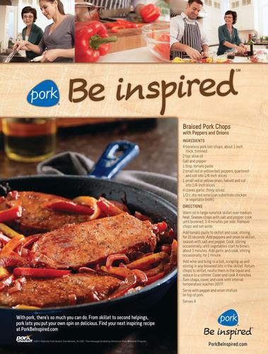 New National Pork Board Campaign Celebrates Proud Brand Identity: Pork® Be inspired(SM)