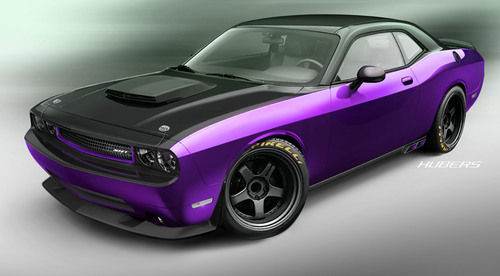 Mopar and SRT reveal Comedian Jeff Dunham's Project Ultraviolet vehicle, a customized 2012 Dodge Challenger  ...