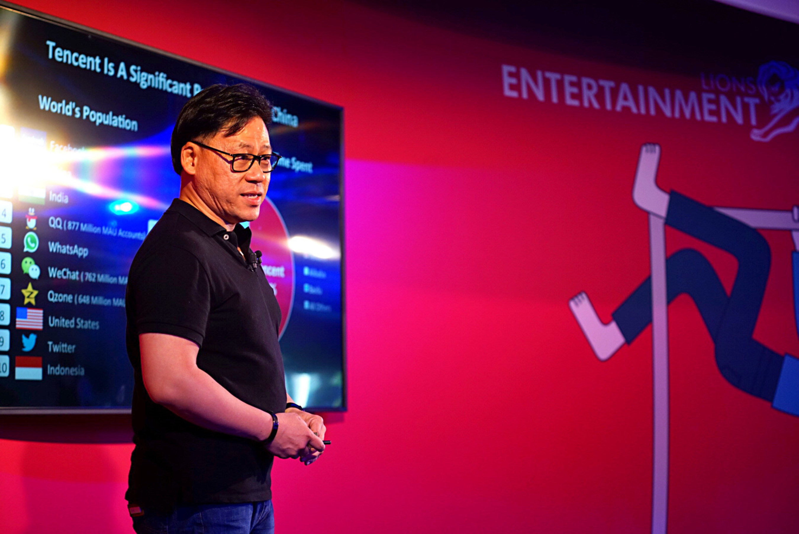 Steven Chang Presents 'New Frontier of Content' at Lions Entertainment