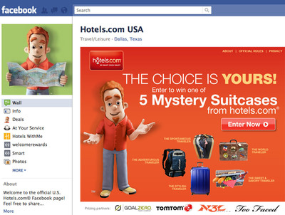 hotels.com Mystery Suitcase Facebook Sweepstakes Offers Five Prizes Based on Travel Personalities.  (PRNewsFoto/hotels.com)