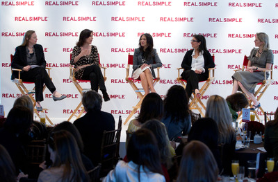 "L-R: TIME Senior Editor Ruth Davis Konigsberg, ABC News correspondent Claire Shipman, author of Battle Hymn of the Tiger Mother Amy Chua, and Founder & CCO of Bobbi Brown Cosmetics Bobbi Brown discuss the findings of ""Women & Time: Setting a New Agenda"" -- a study about American women, time management and satisfaction -- produced by Real Simple and the Families and Work Institute, at a panel discussion led by Real Simple Managing Editor Kristin van Ogtrop at the Time & Life Building, New York City on March 7, 2012. (Craig Paulson Photography).  (PRNewsFoto/Real Simple)"
