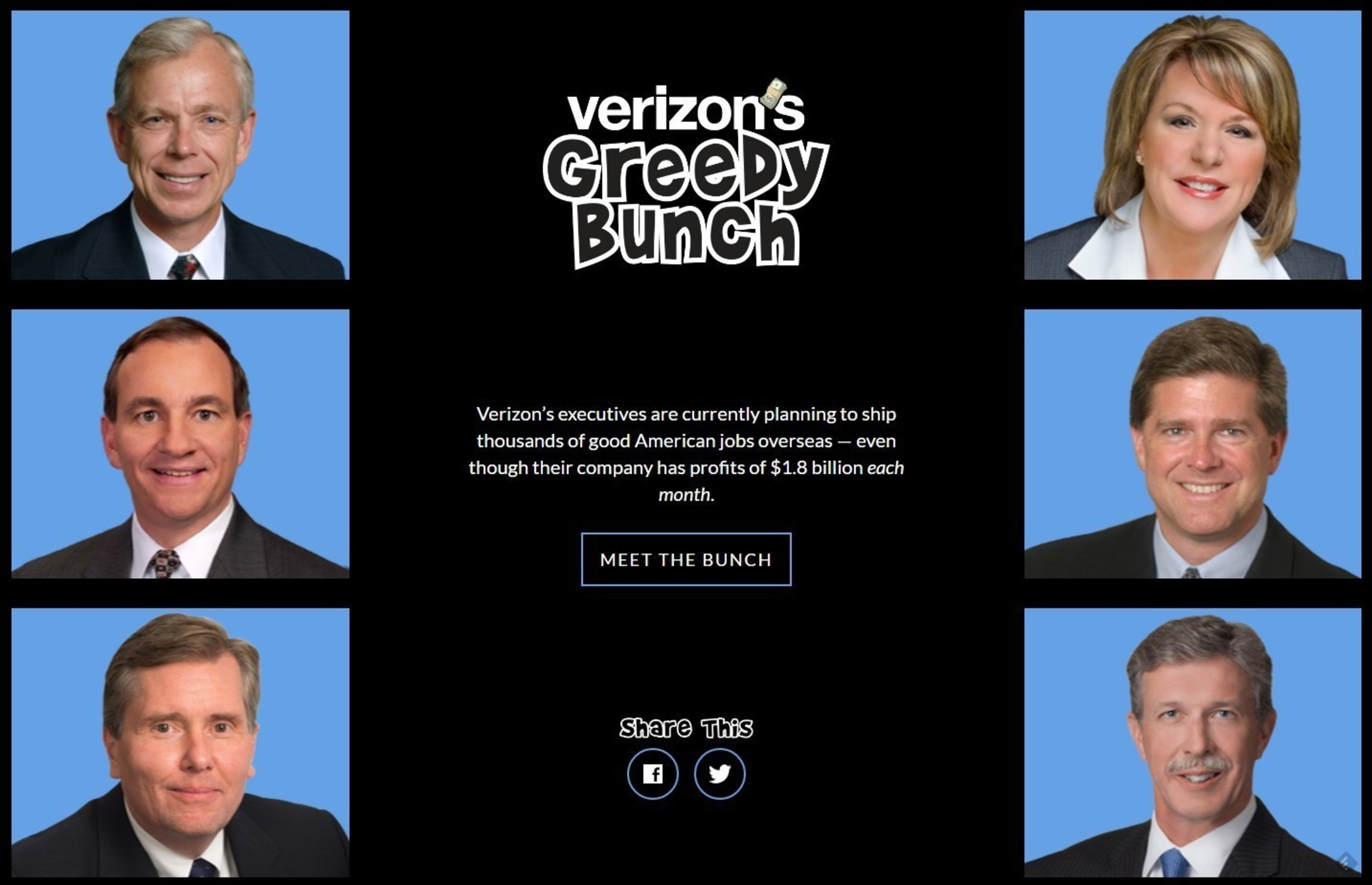 CWA Launches VerizonGreed.com As Verizon Moves to Cut Off Benefits for 100K Workers, Family Members