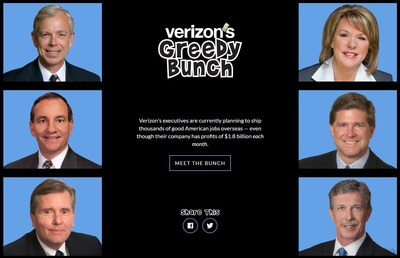 Verizon's Greedy Bunch: CWA Launches VerizonGreed.com As Verizon Moves to Cut Off Benefits for 100K Workers, Family Members