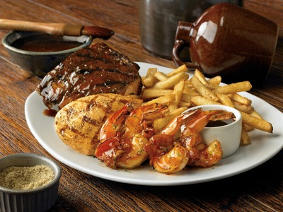 Outback Steakhouse(R) Moonshine BBQ Combo Platter (PRNewsFoto/Outback Steakhouse)