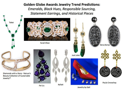 Golden Globe Awards Jewelry Trend Predictions From Leading Style Expert. (PRNewsFoto/StyleLab) (PRNewsFoto/STYLELAB)