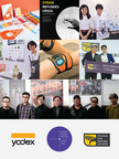 Students exhibit products at YODEX 2016 and receive awards at Young Pin Design Award 2016 ceremony, Head Judges for Young Pin Design Award, and YODEX, World Design Capital Taipei 2016, and Young Pin Design Award Logos. Image courtesy of Taiwan Design Center.