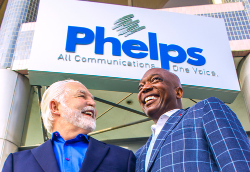 Joe Phelps Welcomes Mike Jackson as New Phelps President. (PRNewsFoto/Phelps) (PRNewsFoto/PHELPS)