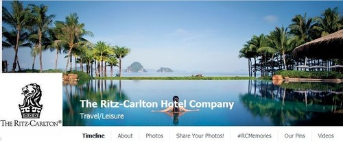Ritz-Carlton Facebook (PRNewsFoto/The Ritz-Carlton Hotel Company)
