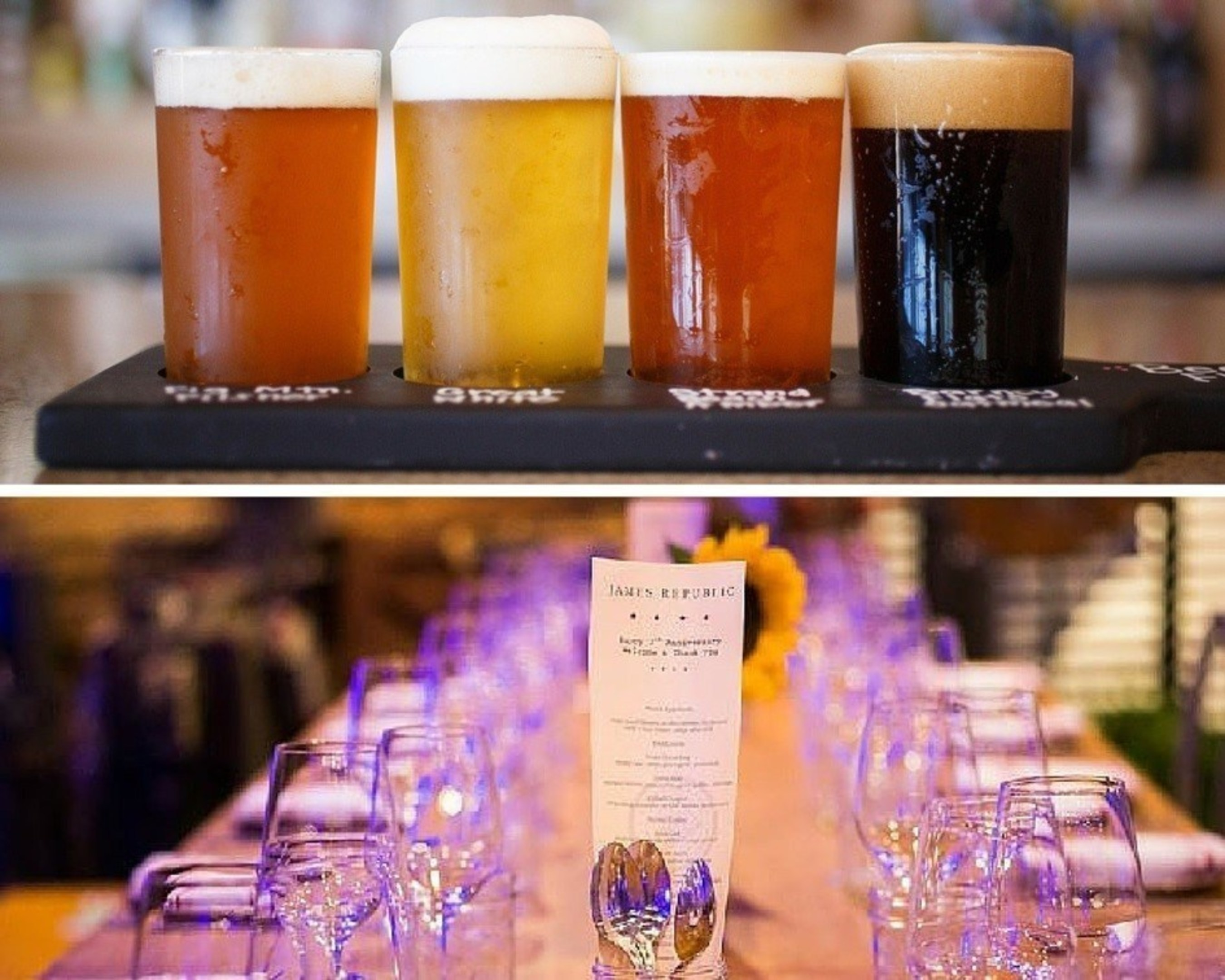 James Republic, a happening restaurant in Downtown Long Beach, is tapping into two top beer dinners and offering two of its popular Dinner Bell series. For information, call 1-562-435-8511 or visit www.marriott.com/LGBCY.