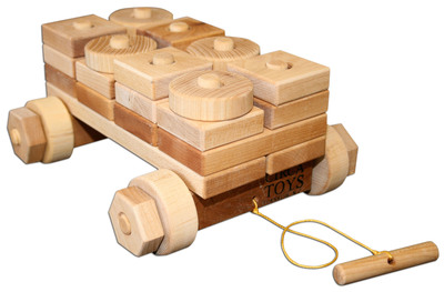 Wagon of Blocks by Circa Toys in Franklin, N.C. was named the winning toy for the 1-3 years age group in the Meijer Next Great Toymaker Contest.  (PRNewsFoto/Meijer)