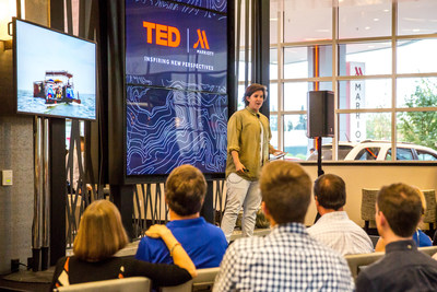 Marriott Hotels partners with TED, the non-profit devoted to ideas worth spreading. This relationship brings creatively curated TED Talks, blogs and original quotes to hotel guests worldwide.