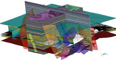 Volumetric Interpretation combined with UVT Modeling and GTR in SKUA-GOCAD produces accurate paleospace imaging for chrono-stratigraphic interpretation and generates high-definition 3D models matching intra-formation seismic details