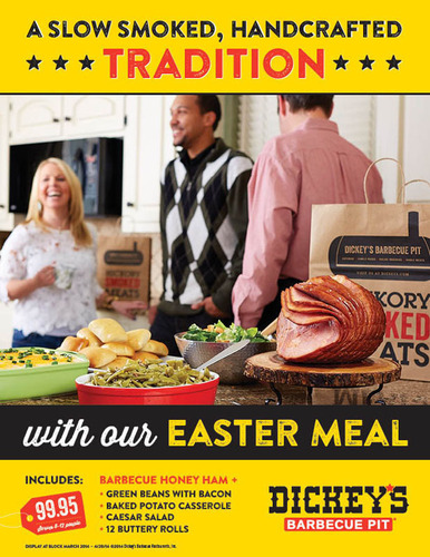 Dickey's Barbecue offering Easter Complete Meal Options.  (PRNewsFoto/Dickey's Barbecue)