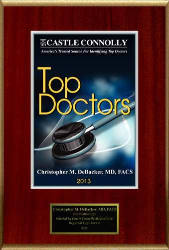 Dr. Christopher DeBacker is recognized among Castle Connolly's Top Doctors® for San Antonio, TX region in 2013.  (PRNewsFoto/American Registry)