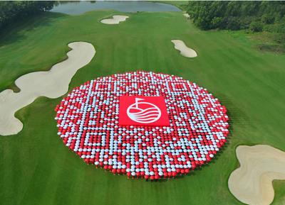 ◎世界最大のゴルフクラブ/リゾートに世界最大のQRコード Mission Hills China