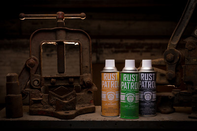 Rust Patrol Product line: (Left to Right) Rust Patrol, Rust Patrol no VOCs and Rust Patrol Incorrustible)