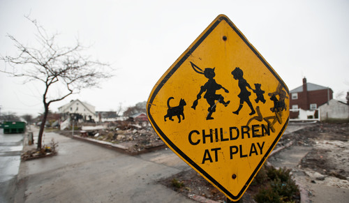Hurricane Sandy robbed children of more than just their homes. They continue to struggle with fears, upheaval and stress brought on by the storm and its aftermath. Families and caregivers can protect children before the next disaster strikes with Save the Children's emergency checklists. Credit: Save the Children.  (PRNewsFoto/Save the Children)