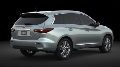 2014 Infiniti QX60 Hybrid is projected to realize 26 miles per gallon fuel economy (combined city/highway driving).  (PRNewsFoto/Infiniti)