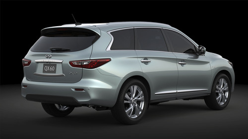 2014 Infiniti QX60 Hybrid is projected to realize 26 miles per gallon fuel economy (combined city/highway ...
