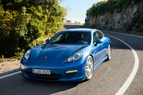 The Panamera S Hybrid is the most fuel efficient Porsche of all time. It goes on sale later this year.  (PRNewsFoto/Porsche Cars North America, Inc., Anatol Kotte)