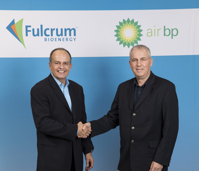 Jim Macias, Fulcrum BioEnergy President and CEO and David Gilmour, BP Vice President - Technology, Commercialization and Ventures announcing the new strategic partnership.