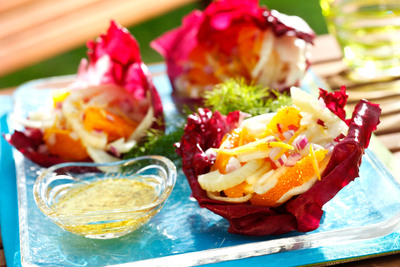 The anise flavor of fennel pairs perfectly with the sweetness of oranges, peppery radicchio and tangy lemon in this refreshing salad. The lemon dressing made with canola oil complements every sweet and savory element of the other ingredients.
