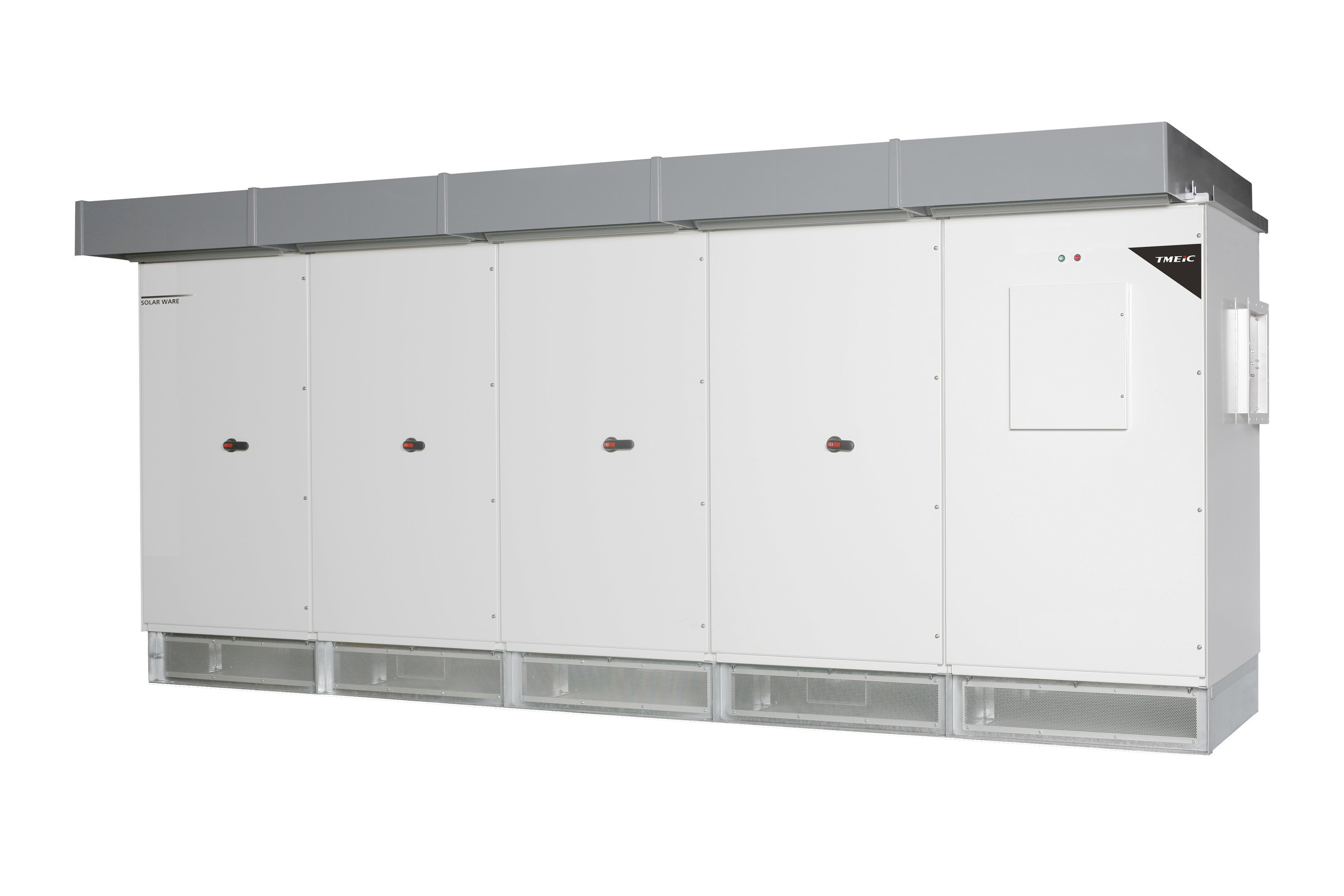 TMEIC's new 1500V inverter is the latest addition to its portfolio of PV utility scale solar inverters for industrial markets. Built on decades of engineering experience in power electronics, Solar Ware(R) inverters offer the industry's most advanced grid management in an efficient, compact footprint. The new 1500V Solar Ware(R) inverter builds upon the Samurai Series patented multilevel inverter technology, offering maximized and optimized efficiency, with a wide MPPT range.