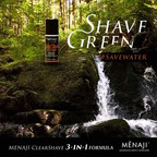 The only shave gel that does not lather and saves 3 gallons of water during your morning grooming routine, the ClearShave 3-in-1 Formula by MENAJI.