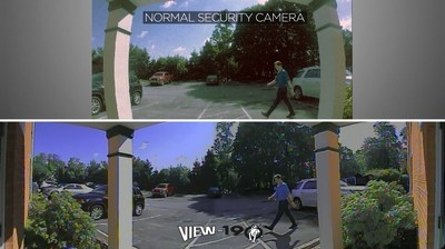 Top view is a normal video surveillance camera. Bottom view is the new View-190 camera.