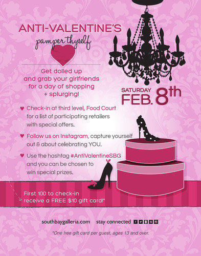 South Bay Galleria Gives Guests a Day of Pampering at its First Annual Anti-Valentine's Day Event on ...