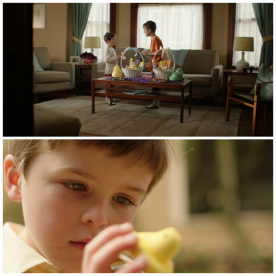 PEEPS(R) first live-action commercial features two brothers discussing ways to Express PEEPSonality.  (PRNewsFoto/Just Born, Inc.)