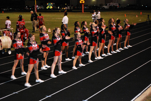 Victory in the Kountze cheerleaders case. Today, the judge granted a temporary injunction allowing the banners with Bible verses to continue for the rest of season and at least until a trial set for June 24, 2013.  (PRNewsFoto/Liberty Institute)
