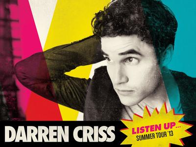 Darren Criss, LISTEN UP Tour 2013.  (PRNewsFoto/Sunshine Sachs)