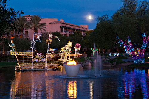 Ice Skating and A Million Lagoon Lights Turn Fairmont Scottsdale into a Winter Wonderland At