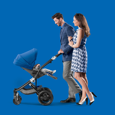 The new BRITAX Affinity stroller allows parents to select from 18 brilliant fabric and frame color combinations to customize a premium fashion statement.  (PRNewsFoto/Reynolds Communications Group)