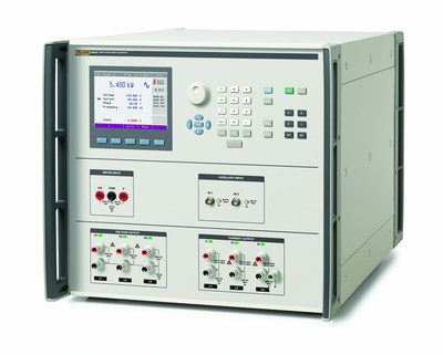 The 6003A delivers the accuracy and features found in more expensive three-phase systems. It provides three independent phases of precise voltage and current. It also sources power quality phenomena, including harmonics, interharmonics, and dip/swell variations. It includes measurement capabilities for dc voltage, dc resistance, and frequency for measuring outputs from power and energy transducers. (PRNewsFoto/Fluke Calibration)