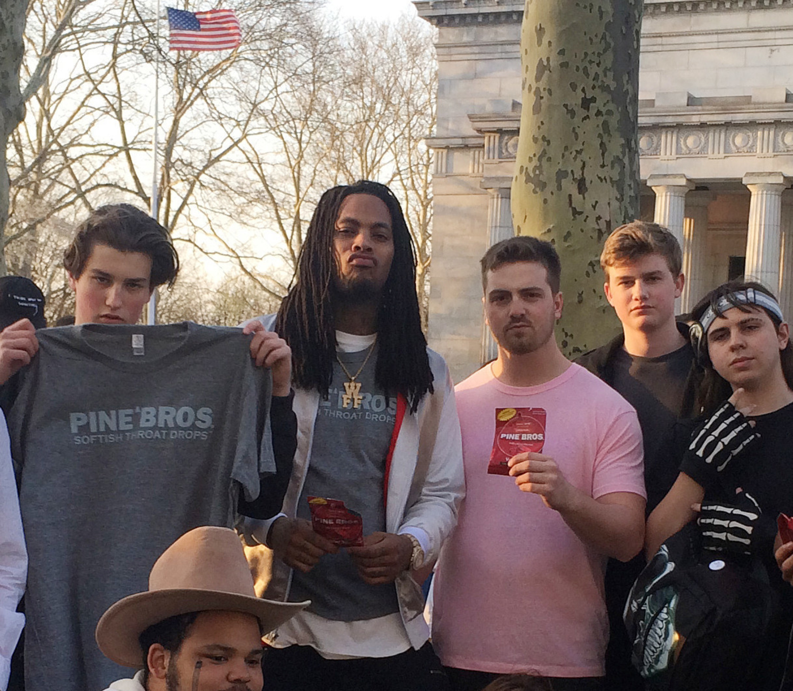 Waka Flocka Stumps at Grant's Tomb. Waka's Presidential Bid A Boon For America's First Throat Drop Company.