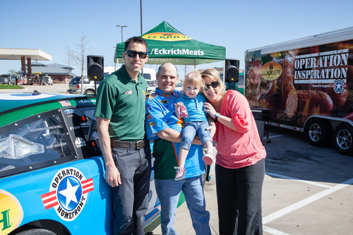 Aric Almirola with Sgt. Ralph Harroff and Family in Ft. Worth, Texas Today.  (photo credit: Brad Scloss).  ...