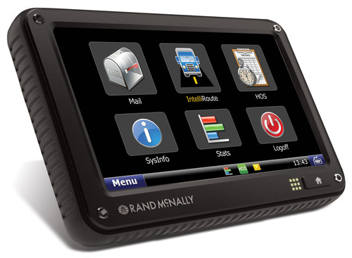 "Rand McNally's TND 760 EOBR Device is designed to be set up in less than 30 minutes and does not require the installation of a separate ""black box"" monitoring unit like traditional mobile communication systems.  (PRNewsFoto/Rand McNally)"