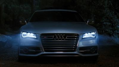 Audi to highlight signature LED headlights on 2013 Audi S7 in upcoming Super Bowl ad.  (PRNewsFoto/Audi of America, Inc.)