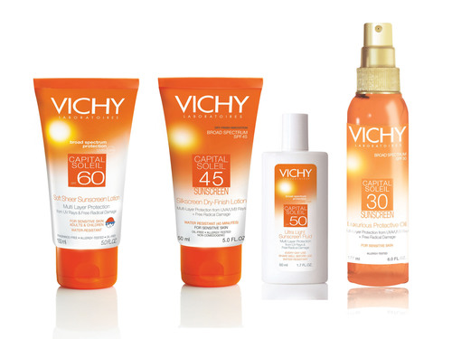 MAY IS SKIN CANCER AWARENESS MONTH: VICHY LABORATOIRES AWARD-WINNING SUNSCREEN IS AS PLEASURABLE AS IT IS EFFECTIVE.  (PRNewsFoto/Vichy)
