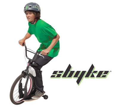 The A20, the newest in the line-up of Sbyke(R) kick scooters, makes its debut at Toy Fair 2014. This revolutionary kick-scooter carves like a skateboard, coasts like a bike and inspires hour after hour of FUN! With three models from which to choose, there's a Sbyke for virtually everybody from ages 5 to adult. Sbyke solves the five most common kick scooter challenges so riders have more fun and moms breathe a sigh of relief! Discover more at www.sbyke.com.  (PRNewsFoto/Sbyke USA, LLC)