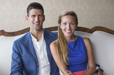 Novak Djokovic with wife Jelena for Made By Moments